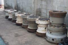 Série de tuyau blanc de canalisation verticale images stock
