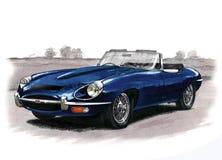 Série de type e II de Jaguar (XKE) Photographie stock