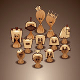 Série de xadrez Fotos de Stock Royalty Free