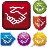 Série do ícone: aperto de mão (vetor) Foto de Stock Royalty Free