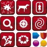Série do ícone: busca & achado Imagens de Stock