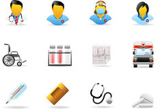 Série do ícone de Glomelo - medicina Foto de Stock
