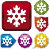Série do ícone: floco de neve (vetor Imagem de Stock