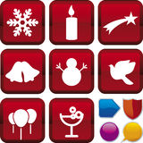 Série do ícone: Natal Foto de Stock Royalty Free