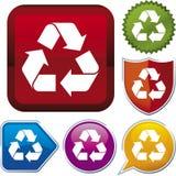 Série do ícone: recicl (vetor) Foto de Stock
