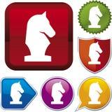 Série do ícone: xadrez Fotografia de Stock