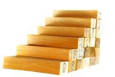 Série do bloco de madeira imagens de stock