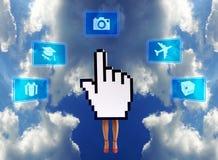 Série do comércio electrónico: Mina com um clique Fotos de Stock