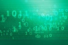 Série do conceito do fundo dos códigos binários de Digitas Foto de Stock