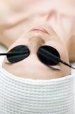 Série do cuidado do corpo. procedimento da electroforese da zona Fotografia de Stock Royalty Free