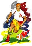 Série do esporte: Jogador do futebol/futebol Fotografia de Stock