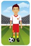 Série do esporte: Jogador do futebol/futebol Fotos de Stock