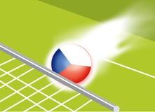 série do esporte/objetivo Checoslováquia Imagens de Stock Royalty Free