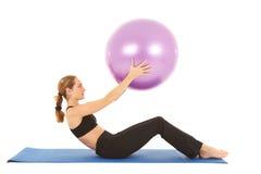 Série do exercício de Pilates Fotografia de Stock