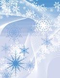 Série do fundo do floco de neve Fotografia de Stock Royalty Free
