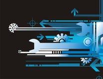 Série do fundo técnico ilustração stock