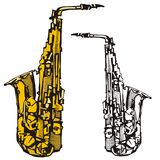 Série do instrumento de música Foto de Stock