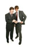 Série do mentor - homens de negócios & PDA Imagem de Stock