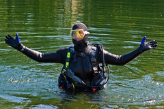 Série do mergulhador Imagens de Stock Royalty Free