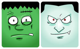 Série do monstro de Halloween primeira Fotos de Stock
