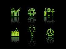Série do néon da ecologia Imagens de Stock Royalty Free