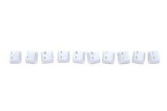 Série do número do teclado fotografia de stock