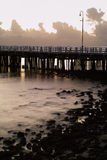 Série do nascer do sol do cais de Shorncliffe fotos de stock