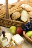 Série do pão e do vinho com fruta Foto de Stock Royalty Free