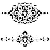 Série do projeto do preto dos motivos do otomano de cinquenta e quatro Imagem de Stock