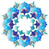 Série do projeto dos motivos do otomano com uma versão Imagem de Stock Royalty Free