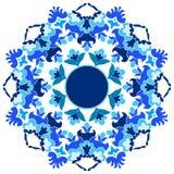 Série do projeto dos motivos do otomano com versão dezesseis Imagem de Stock
