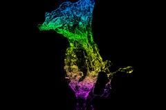 Série do respingo da água - Mini Wine Glass Eruption Color Fotografia de Stock