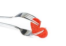 Série do restaurante, jantar do dia de são valentim no fundo branco Imagem de Stock