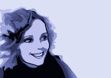 Série do retrato - estilo dos desenhos animados fotografia de stock
