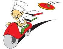 Série do trabalho - pizzaiolo e pizza Fotografia de Stock