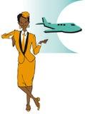 Série do trabalho - stewardess ilustração do vetor