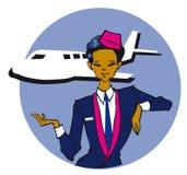 Série do trabalho - stewardess ilustração royalty free