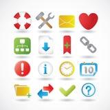 A série dos ícones do Internet ajustou 2 Imagem de Stock Royalty Free