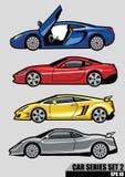 A série dos carros ajustou 2 Imagem de Stock
