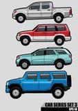 A série dos carros ajustou 3 Imagem de Stock