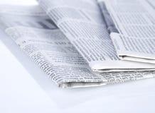 Série dos jornais fotografia de stock royalty free
