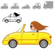 Série dos veículos dos desenhos animados ilustração stock
