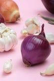 Série dos vegetais: cebola vermelha e mais Foto de Stock Royalty Free