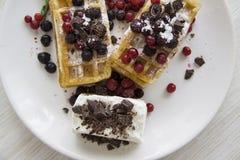 Série 10 dos waffles belgas Fotografia de Stock Royalty Free