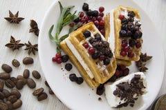 Série 40 dos waffles belgas Fotografia de Stock