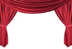 Série drapée rouge 1 de rideaux en théâtre Image libre de droits