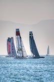 Série du monde de la tasse de l'Amérique 2013 catamarans Photographie stock