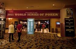 Série du monde du tisonnier (WSOP) 2011 à Rio Images stock