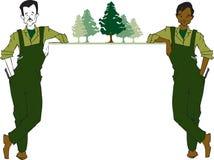 Série du travail - forestier illustration de vecteur