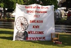 Série editorial da imagem do Powwow nativo fotos de stock